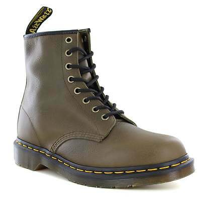 Dr Martens 1460 Mens Carpathian Leather Boots Grenade Green