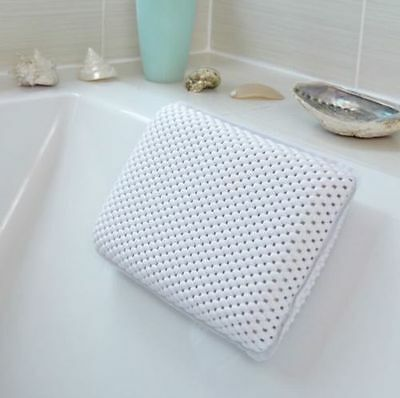 White Luxury Relaxing Bath Spa Pillow Cushioned Head Neck Rest Bathroom