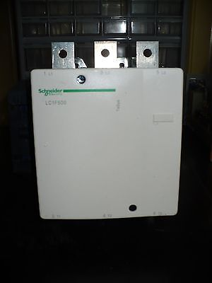 Schneider Electric LC1F500 G7 Contactor, 500 Amp, 3 Pole, New