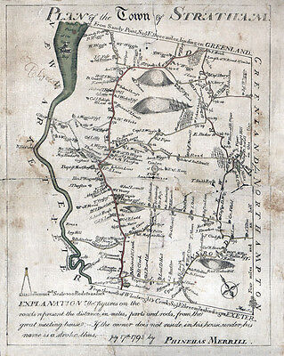 1793 Map of Stratham New Hampshire