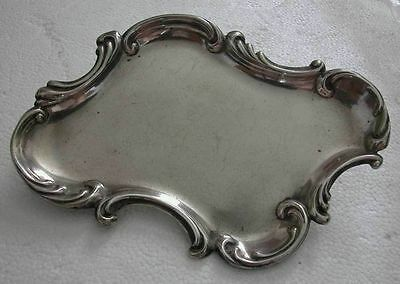 A Fine Early 20Th Century Solid Sterling Silver Rococo Style Small Dish