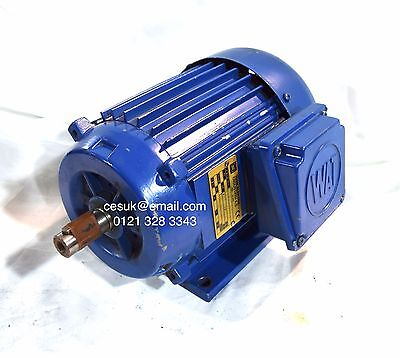 Quality WAT 0.55kW Electric Motor  3-Phase AC 4-Pole B3 Foot 80 Frame 1400RPM