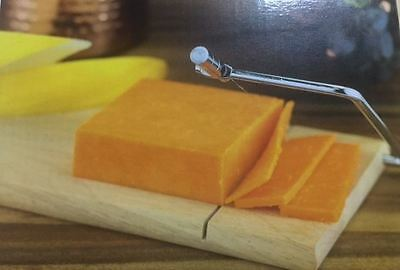 New Stainless Steel Kitchen Rubberwood Cheese Slicer Slicing Board Cutting Wire