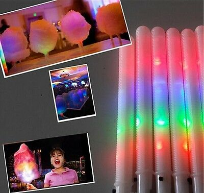 Cotton Candy LED Glo, Glow Cones-Pack Of 10 (8 Function)