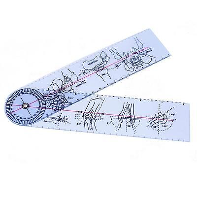 "Goniometer Angle Medical Ruler Rule Joint Bend Measure Plastic PVC 8"" 200mm N タ"