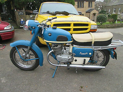 1975 RARE COSSACK VOSKHOD-2 174cc MOTORCYCLE BLUE 3 OWNERS 11,400 MILES