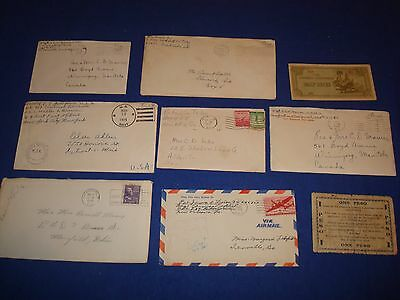 WW 2 Letters (7), 1941-1946,12 pages,+2 ww2 Notes Most from Soldier-Misc