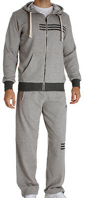 Adidas Mens Climalite Cotton Fleece Full Tracksuit Hoodie Top Pants Bottoms New
