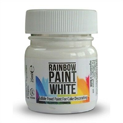 Rainbow Dust Paint WHITE 25ml Edible Food Paint Cake Decorating *NEW PRODUCT*