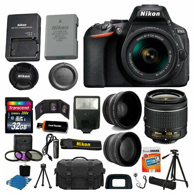 Nikon D5600 Digital SLR Camera 3 Lens Kit 18-55 VR Lens + 32GB Best Value Bundle