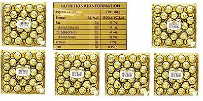 144 PCS  (24 X 6 ) Ferrero Rocher - 1800 GRAMS - CHOCOLATE CHRISTMAS GIFT