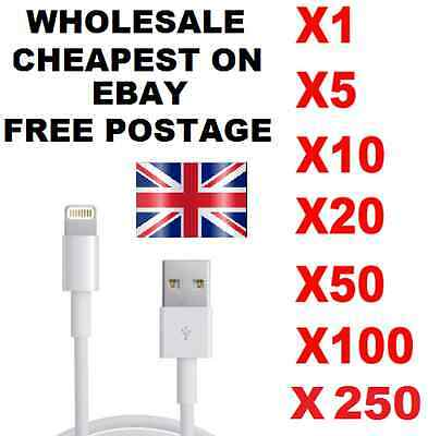 Wholesale Bulk Job lot iPhone 5 6 7 USB Data Sync Charging Cable Lead Charger