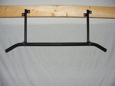 Heavy Duty Pull Up Chin Bar Kit / Mounts Rafter Joist For Fitness Gym Training