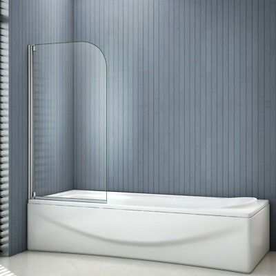 800x1400mm New Pivot Shower Bath Screen Curved Glass Door Panel Nextday Delivery