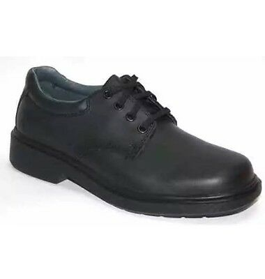 NEW Clarks Daytona Junior Black Leather Lace Up School Shoes All Sizes FREE POST
