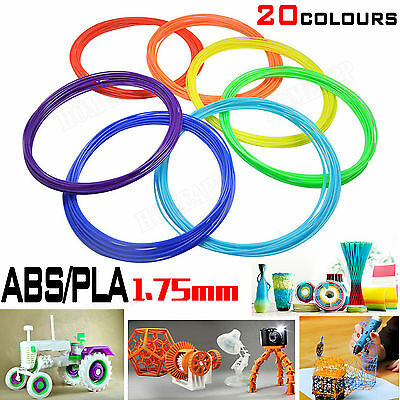 3D Drawing Printer Pen ABS/PLA Filament 1.75mm 20colors 10mts each for Modelling