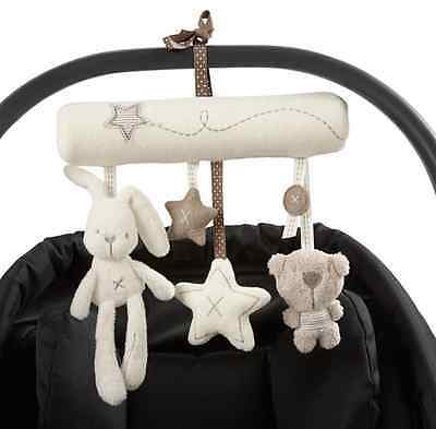 Kid Baby Crib Cot Pram Bed Stroller Hanging Plush Toy Rabbit Bear Bell& Music AU