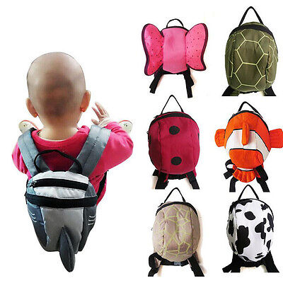 Toddler 3D Cartoon Safety Harnesses Baby Kids Animal Printed Backpack Leashes