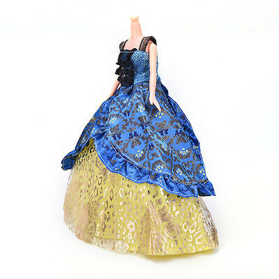 "Fashion Beautiful Handmade Party Clothes Dress for 9"" Barbie Doll Hot!"