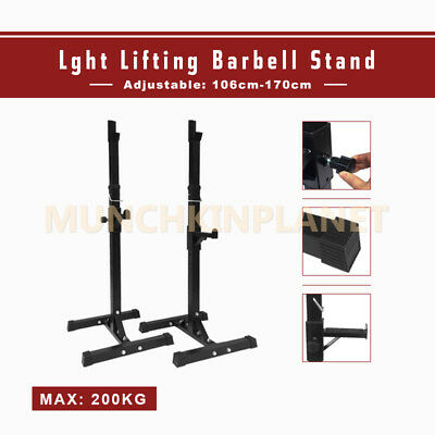 2x Squat Power Racks Barbell Stand Home Use Gym Weight Lifting Strength Training