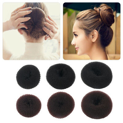 Women Girls Sponge Hair Bun Maker Ring Donut Shape Hairband Styler Tool SI
