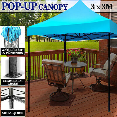 3X3m Pop Up Gazebo Outdoor Folding Tent Market Party Marquee Canopy