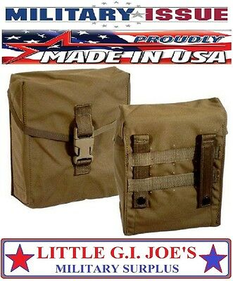 Military Issue USMC Marine MOLLE 200Rd SAW Pouch Or Can Be A IFAK Pouch COYOTE