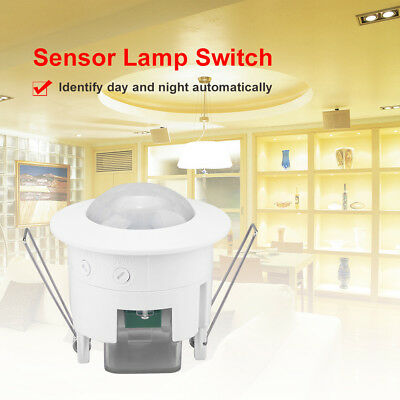 Indoor Room Ceiling Infrared Motion Body Sensor Detector Auto Lamp Light Switch