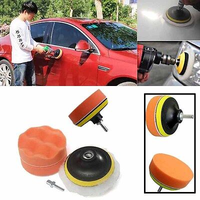5pcs Car Polishing Foam Buffing Pad Kit with Drill Adapter Suit For Car Polisher