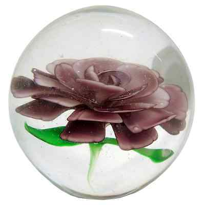 New Colour Glass Rose Lilac Ball Shape Flower Paperweight