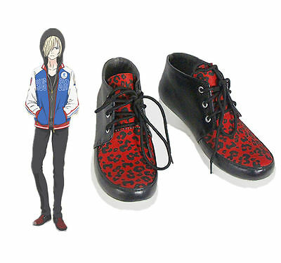 Yuri!!! on Ice sport shoes Plisetsky Yuri Cosplay Shoes Lace up Sneakers