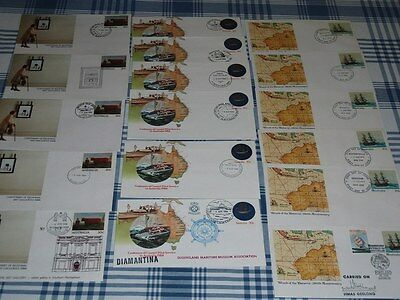 FDC PSE Mix 1984 Australia 17 Envelopes