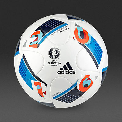 Adidas EURO 2016 Top Glider Football/ Soccer Ball | WHITE/ BLUE or FRACAS SIZE 5