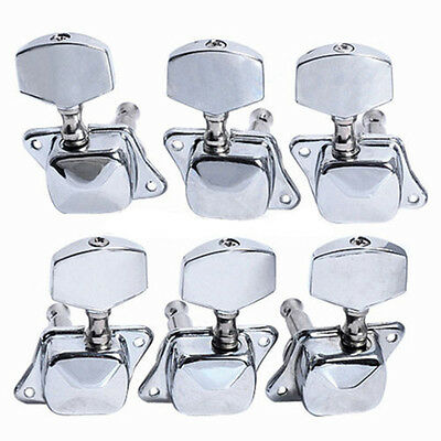 Acoustic Guitar String Semiclosed Tuning Pegs Tuners Machine Heads 3x3 Chrome