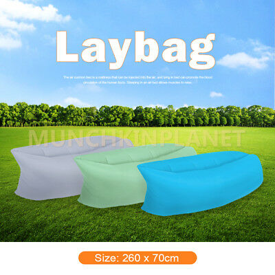 Lazy Lounge Laybag Fast Inflatable Sleeping Laybag Beach Air Bag Bed Camping