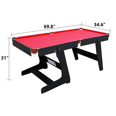 HLC 5.8ft Folding Professional Snooker Table Billiard Pool Table With Ball Cues