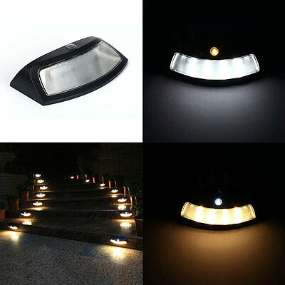 Solar Power Fence LED White Light Outdoor For Garden Yard Wall Path Street Lamp