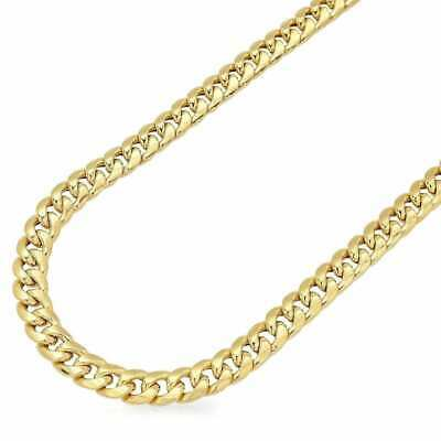 "26"" Miami Cuban Link Chain Necklace 6mm Wide 14K Solid Yellow gold"