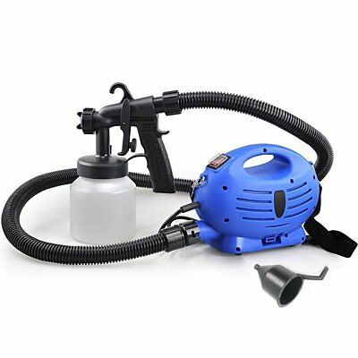 650W Electric Paint Sprayer System Zoom Spray Gun Painting Fence Outdoors