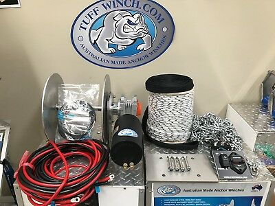 Electric Anchor Winch DRUM WINCH Australian Made winch kit including loom