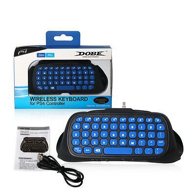 Practical 2.4G Wireless Bluetooth Keyboard Keypad Chatpad for PS4 Slim  lot dw