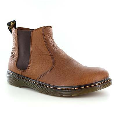 Dr Martens Lyme Mens Leather Chelsea Boots Tan