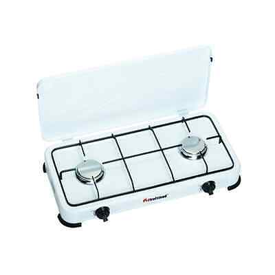 FireFriend KO-6382 Number of burners/cooking zones 2, Rotary, White