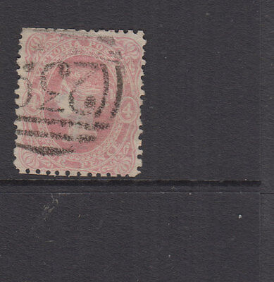 Victoria 1862 4d Dull Rose-pink QV BEADED OVAL-wmk '4'-SG95-BN 239 DUNOLLY-VFU