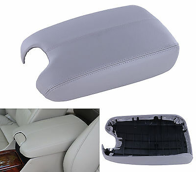 Fits 2008-2012 Honda Accord Gray PU Leather Console Lid Armrest Cover