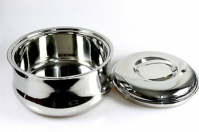 Double Wall Stainless Steel Insulated Hot Pot Food Warmer Serving Dish Casserole