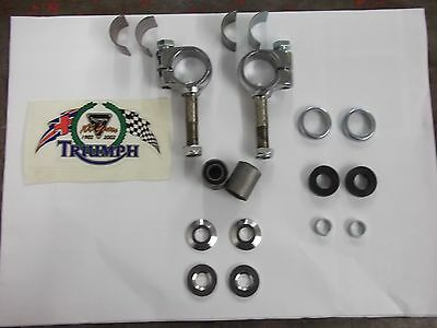 Triumph Handle Bar P Clamp C/w Complete Fittings Uk Made, T100,t120,t140,t150,