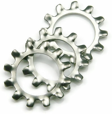 Stainless Steel External Tooth Star Lock Washer 1/4 Qty 100