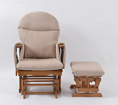 Habebe Recliner Rocking Glider Chair & Stool  WASHABLE COVERS - SALE £10 OFF