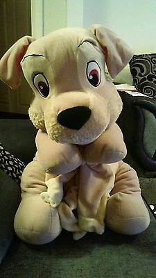 "Disney lady and the tramp ""scamp"" soft plush toy"